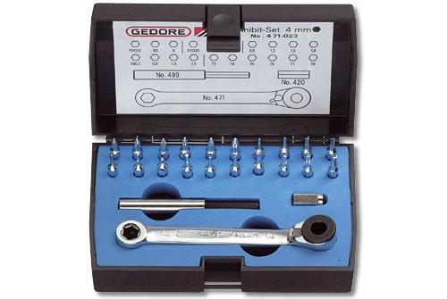GEDORE Minibit 4 mm 6-kt Innen 6-kt von 0,7 mm bis 3,0 mm zur Auswahl